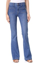 Madewell Flea Market Flare Jeans Sailor Edition Lucy