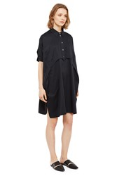 Opening Ceremony Sateen Button Down Dress Black