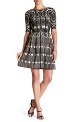 Taylor Foulard Print Novelty Knit Dress Multi