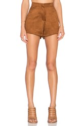Oh My Love Suede It Up Short Brown