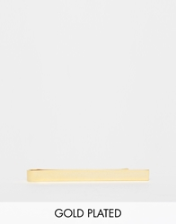 Asos Gold Plated Tie Bar In Regular Fit