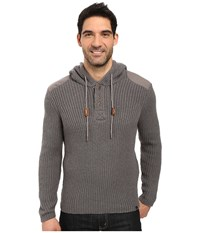Prana Hooded Henley Sweater Gravel Men's Sweater Silver