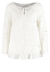Cream Long Sleeved Top Chalk Off White