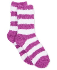Charter Club Women's Striped Butter Socks Only At Macy's Purple Yam