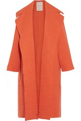 Roksanda Ilincic Helston Oversized Boucle And Textured Felt Coat Orange