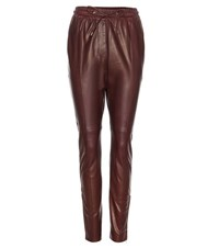 Givenchy Leather Trousers Red
