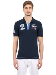 La Martina Stretch Cotton Pique St Tropez Polo Navy