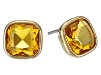 Michael Kors Botanicals Gold Blue Stone Stud Earring Gold Citrine Earring