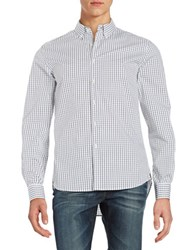 Kenneth Cole Checkered Sportshirt Black Combo