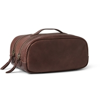 J.Crew Montague Textured Leather Wash Bag Brown