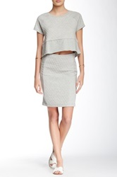 Olive And Oak Quilted Pencil Skirt Gray