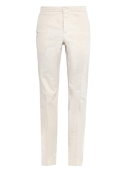 Faconnable Slim Leg Stretch Cotton Trousers