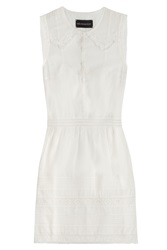 Zadig And Voltaire Rice Deluxe Cotton Blend Dress White