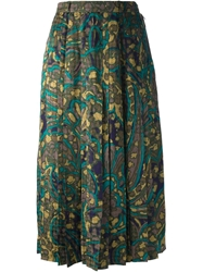 Jean Louis Scherrer Vintage Abstract Floral Print Skirt Multicolour