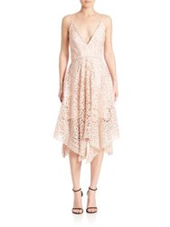 Nicholas Geometric Floral Lace Ball Dress Antique Pink