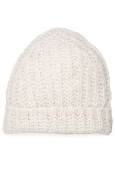 81 Hours By Dear Cashmere Hat With Alpaca And Merino Wool White