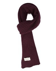 Oliver Spencer Burgundy Large Stitch Wool Scarf