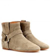 Isabel Marant Raelyn Suede Ankle Boots Beige