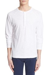 Men's Todd Snyder Long Sleeve Cotton Jersey Henley