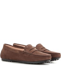Tod's Gommini Suede Loafers Brown
