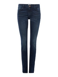Part Two High Waisted Dark Denim Jeans Blue