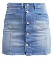 Pepe Jeans Shelly Mini Skirt Denim Bleached Denim