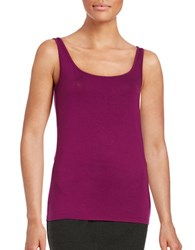 Lord And Taylor Iconic Slim Fit Tank Cosmos Purple