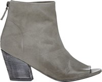 Marsell Women's Back Zip Ankle Boots Light Grey Size 7.5