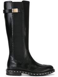 Dolce And Gabbana Brogue Detailing Boots Black