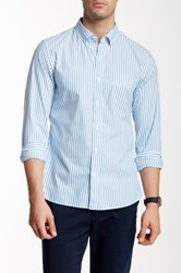 Bonobos Deering Stripe Long Sleeve Slim Fit Shirt Blue