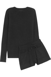 Nlst Cashmere Sweater And Shorts Set Black