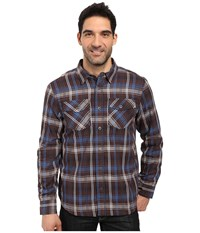 Prana Asylum Flannel Raisin Men's Long Sleeve Button Up Brown