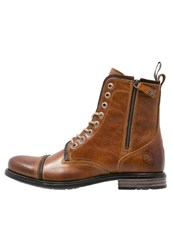 Sneaky Steve Fordham Laceup Boots Cognac Texas