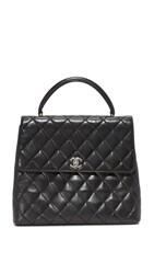 Wgaca Chanel Kelly Bag Previously Owned Black