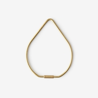 Areaware Drop Key Ring Brass