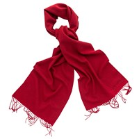 Thomas Pink Signature Wool Cashmere Scarf Red