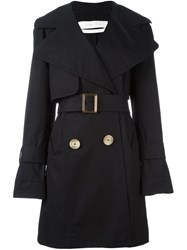 See By Chloe Short Trench Coat Black