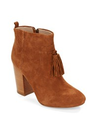 French Connection Linds Suede Booties Tan