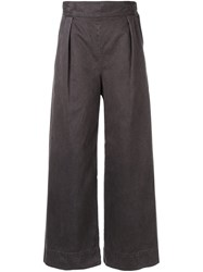 H Beauty And Youth. High Rise Flared Trousers Grey