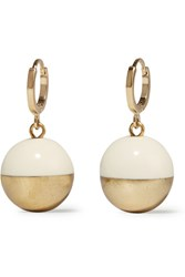Isabel Marant Peace On Earth Gold Tone Resin Earrings
