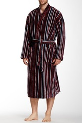 Majestic Lounge Fancy Terry Robe Red
