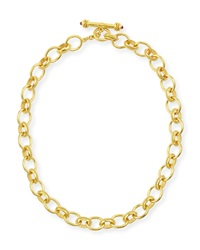 Lampedusa 19K Gold Link Necklace 17'L Elizabeth Locke