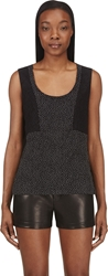 Cnc Costume National Black Dot And Lace Silk Tank Top