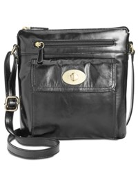 Giani Bernini Glazed Turnlock Crossbody Only At Macy's Black
