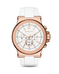 Michael Kors Dylan Silicone Watch 48Mm Pink