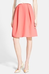 Chelsea 28 Pleated A Line Skirt Orange