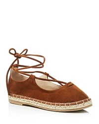 Catherine Malandrino Lace Up Espadrille Flats Compare At 71 Cognac