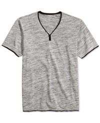 Inc International Concepts Men's Le Grecko Heathered Y Neck T Shirt Only At Macy's Deep Black