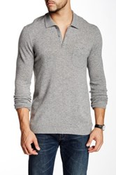 Autumn Cashmere Cashmere Polo Sweater Gray