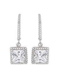 Mikey Sterling Silver 925 Square Drop Earring N A N A